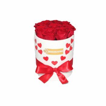 Valentin napi rózsadoboz – Szivecskés – Kicsi