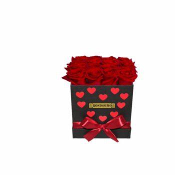 Valentin napi rózsadoboz – Szivecskés – Közepes