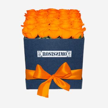 Narancssárga rózsadoboz – Kocka – Nagy