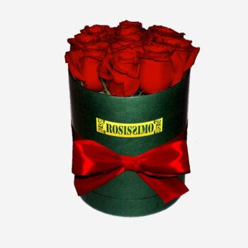 Vörös rózsadoboz – Kerek – Kicsi