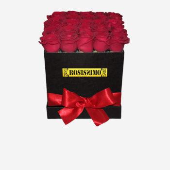 Vörös rózsadoboz – Kocka – Nagy