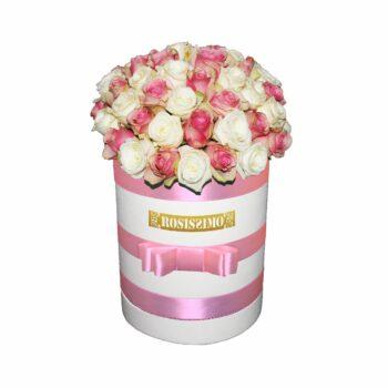 Nagy gömb rózsadoboz – Kerek Friss virágból