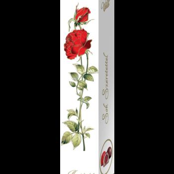 Rózsa desszert – marcipános